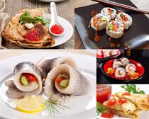 壽司番茄燒餅美食拍攝高清圖片