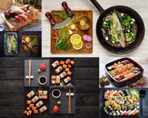 壽司海鮮海魚攝影高清圖片