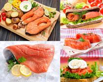 海魚配菜展示拍攝高清圖片