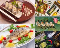 海鮮海魚配菜攝影高清圖片