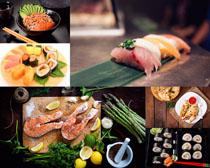 三文魚壽司拍攝高清圖片