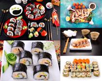 日本壽司與大蝦食物攝影高清圖片