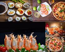 壽司大蝦美食拍攝高清圖片