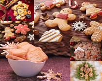 圣誕節裝飾小餅干攝影高清圖片