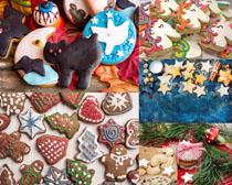 圣诞卡通可爱饼干摄影高清图片