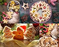 圣诞节日装饰饼干拍摄高清图片