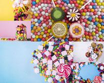 甜甜的色彩糖果拍攝高清圖片