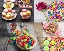 色彩糖果餅攝影高清圖片