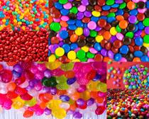 七彩糖果食物拍攝高清圖片