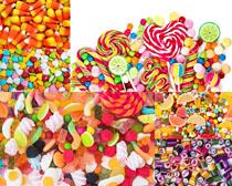 彩色棒棒糖果攝影高清圖片