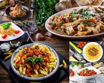 意大利美食面展示摄影高清图片