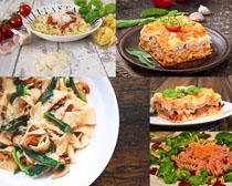 蔬菜意大利面条摄影高清图片