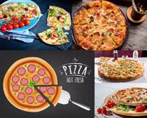 国外披萨展示拍摄高清图片