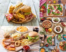 披萨汉堡包早餐食物摄影高清图片
