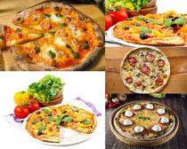 美食番茄披萨食物摄影高清图片