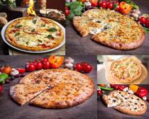 烤披萨食物摄影高清图片