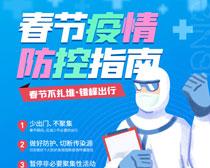 春节疫情防控海报PSD素材