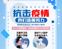 抗击疫情宣传海报设计PSD素材