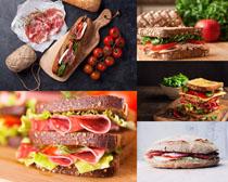 三明治营养早餐摄影高清图片