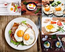 早餐鸡蛋肉类摄影高清图片