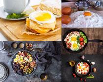面粉水果與雞蛋攝影高清圖片
