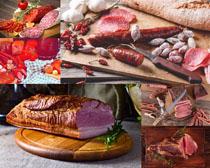 臘肉香腸面包拍攝高清圖片