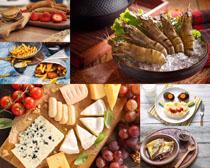 奶酪薯条大虾摄影高清图片