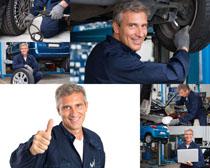 国外汽修工人拍摄高清图片