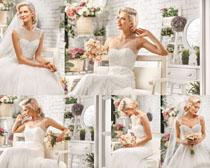 婚紗漂亮女人寫真拍攝高清圖片