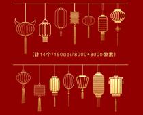 金色燈籠PSD素材