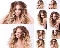 卷发欧美时尚美女拍摄高清图片