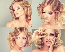 欧美发型写真美女拍摄高清图片