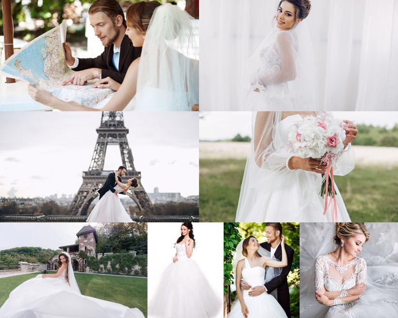 外国婚纱写真男女摄影高清图片