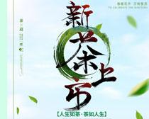 春季新茶上市海报PSD素材