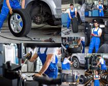 汽车机修技术师摄影高清图片