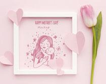 粉色母亲节概念设计PSD素材