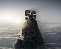 山頂5G時代科技海報PSD素材