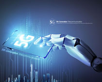 現代科技5G時代海報PSD素材