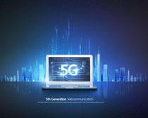 數碼時代5G宣傳廣告PSD素材
