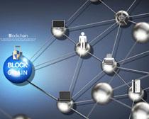 商務信息鏈分子時代廣告PSD素材