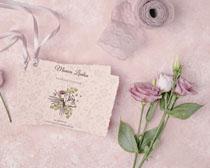 賀卡玫瑰花絲綢裝扮PSD素材