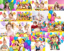 开心小朋友生日派对摄影高清图片