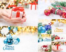 圣誕節禮物裝飾攝影高清圖片