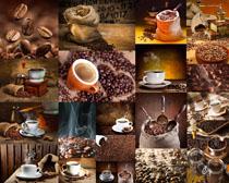 咖啡果與杯子拍攝高清圖片