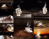 休閑熱咖啡與果攝影高清圖片