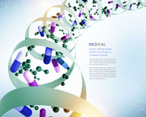 医疗药物分子广告宣传PSD素材