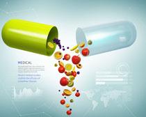 药物营养与价值宣传广告PSD素材