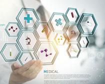 医学现代图标展示PSD素材