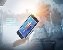 现代化医学分析广告PSD素材
