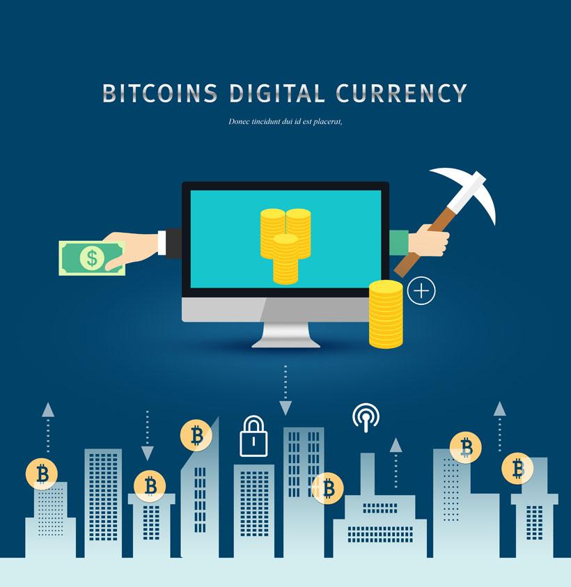 商务金融比特币广告PSD素材